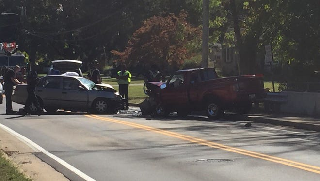 One person is dead following a two-vehicle crash in the Bon Air neighborhood Monday afternoon.