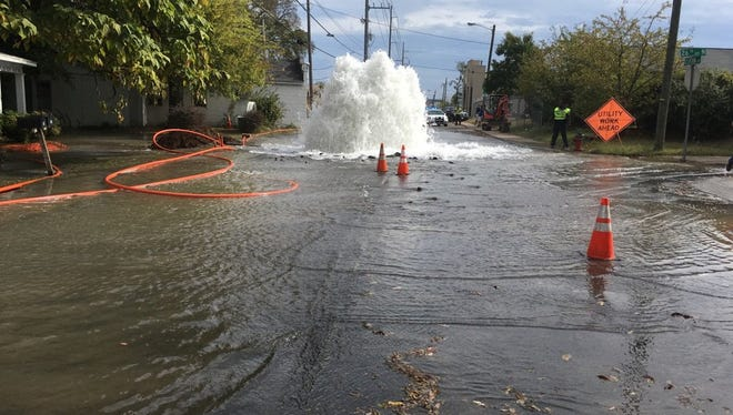 A 36-inch water transmission line was damaged by a contractor near Clifton Avenue and 26th Avenue North.