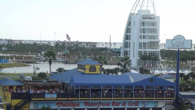 Fishlips Waterfront Bar & Grill,  610 Glen Cheek Dr., Cape Canaveral is owned by Michael Schwarz, Rich Hensel and Donna Mazzarelli.
