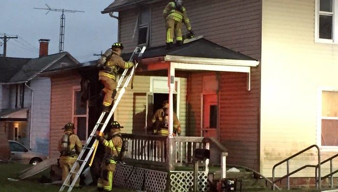 A house fire occurred Thursday afternoon near the intersection of Union Street and Hancock Street in Newark.