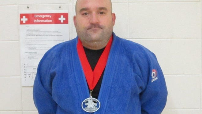 Nate Way brought home a silver medal out of the heavy weight division at the Santa Shiai.
