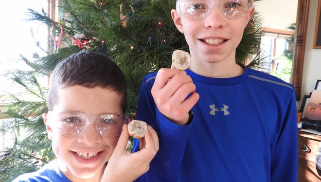 Brothers Zac and Derek are excited to get rocks in their stockings at Christmas!