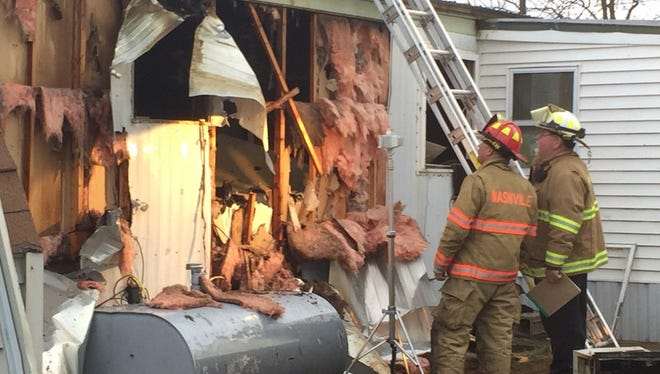 A fire on Kraft Lane in Jackson Township severely damaged a trailer.