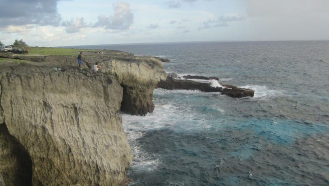 A cliff line in Rota is shown in this file photo.