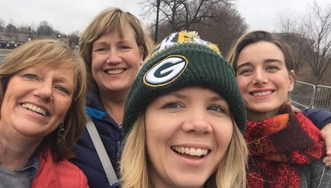 Nancy Fischer, Stewart, Jenny Fischer, Charolette Baierl and Megan Will attended the Women's March in Washington D.C. Saturday.