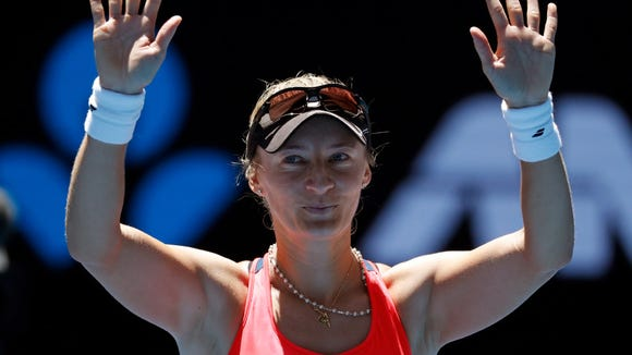Mirjana Lucic-Baroni, a tennis phenom at Mahwah 20 years ago, exults in reaching the Australian Open semifinals on Wednesday.