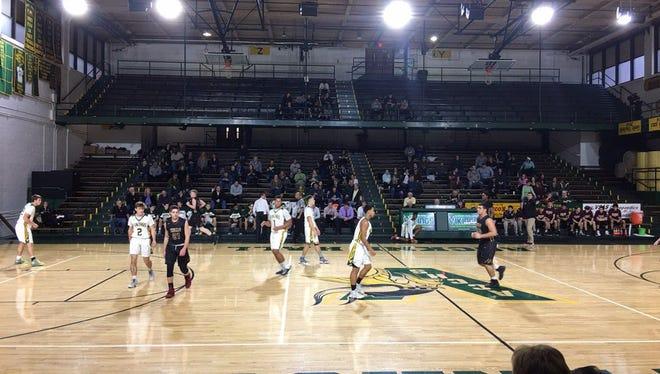 Wayne Hills' boys basketball team recently defeated Allentown (Pa.) Central Catholic at historic Rockne Hall.