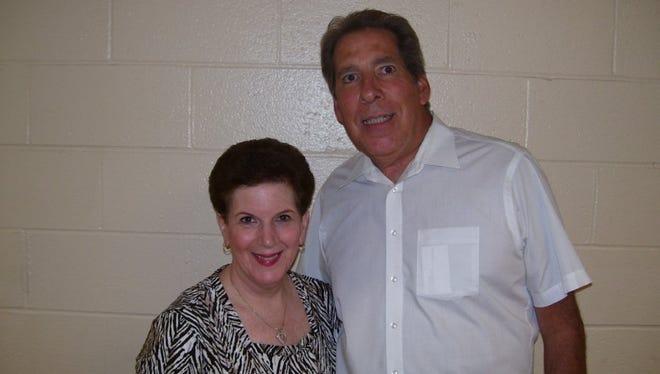 Fran Kirsh (left) and Bruce Kemlitz in June 2010 when both were preparing for retirement as Belleville teachers.