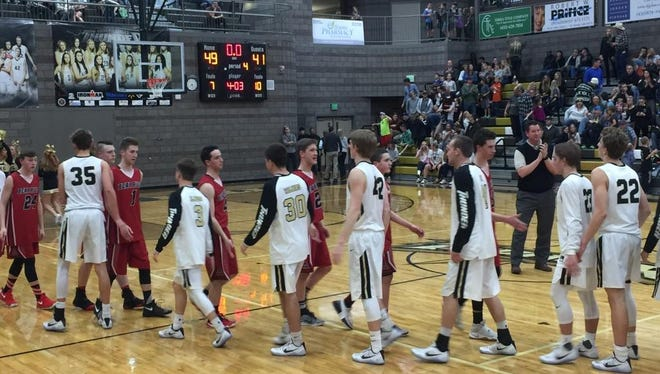 No. 1 Desert Hills defeated No. 4 Bear River 49-41 Friday night in the first round of the 3A state playoffs.