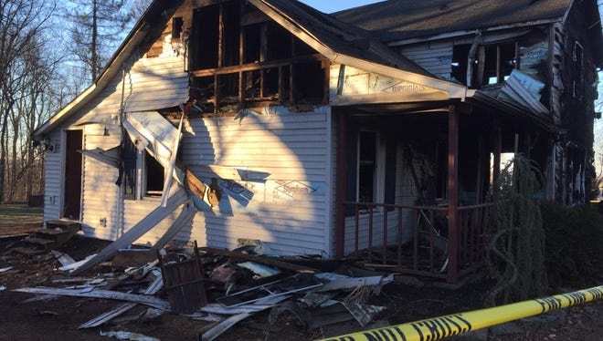 A fire on Sunday severely damaged this Conewago Township home on Buck Road. The cause of the fire remains unknown.