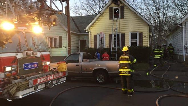 Thursday morning house fire at 78 Kosciusko Street.