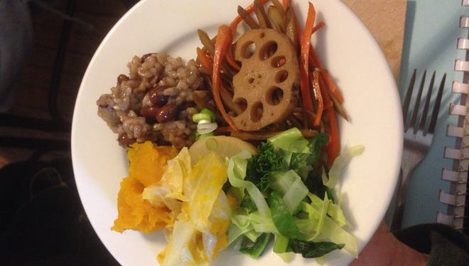 A macrobiotic meal served at the Kushi Institute.