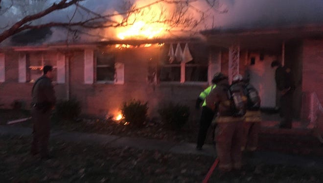 A fire in Dresden Wednesday morning is under investigation.