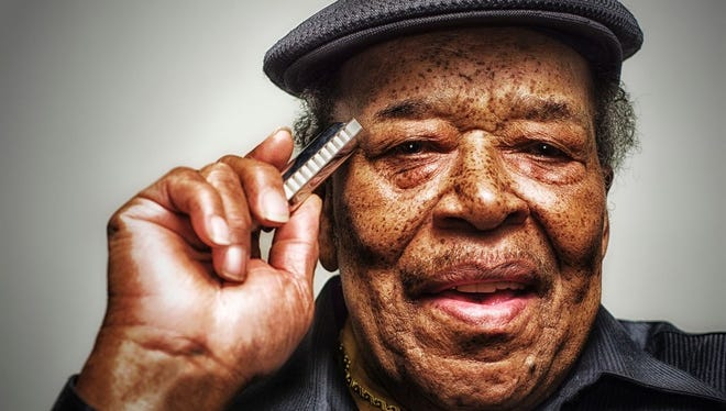 Bluesman James Cotton is pictured in a publicity photo distributed by Alligator Records.