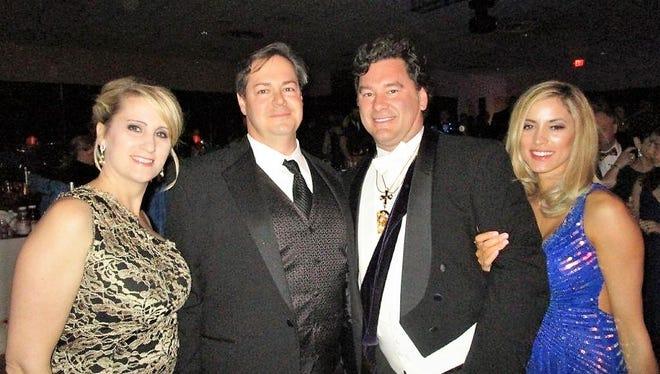 Christina and Jason Meche, Bart Bernard and Tiffany Wiltz