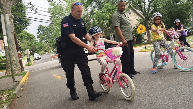 Rutherford hosts a bike rodeo last June for district third graders. Another rodeo is planned for June.