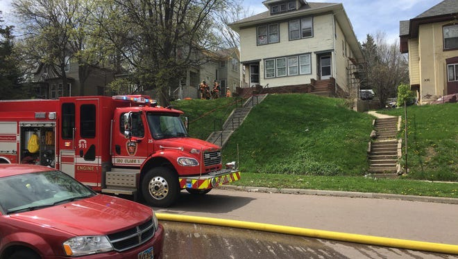 Crews extinguished a fire at 321 N. Spring Avenue on Sunday afternoon.