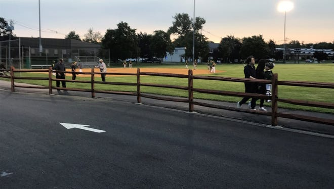 The walking path that surrounds Kennedy Field behind Borough Hall could be getting 40 LED lights.