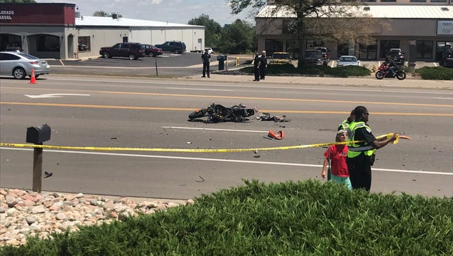 A portion of College Avenue was closed after a vehicle-vs-motorcycle crash on Friday, June 30.