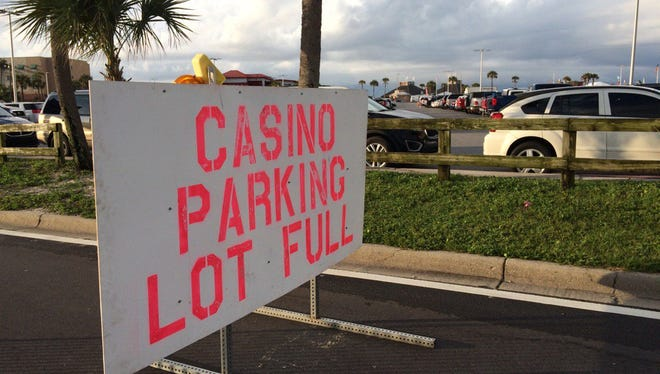 Officials closed the Casino Beach parking lot at 5:50 a.m. on Saturday, July 8, 2017, before the Blue Angels Air Show.