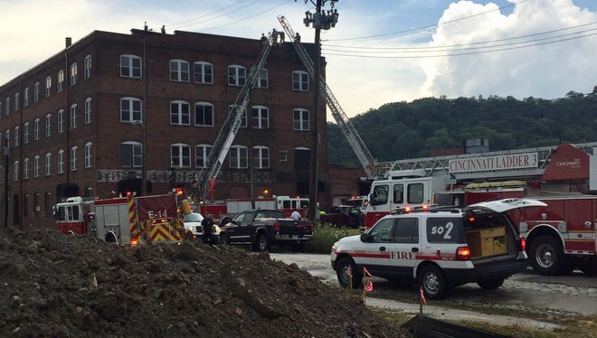 Lightning struck Lower Price Hill building, causing small fire Thursday afternoon.