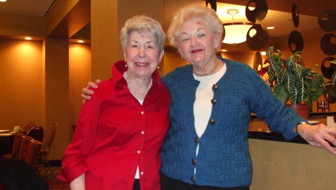 Here is our cousin, Jane Burton, a few years ago with my mom, Lynn Sebbard. Mom is wearing a sweater I made for her that year. Jane's mom and Mom's dad were sister and brother.