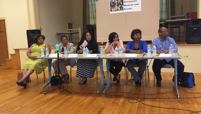 Candidates for Rochester City School District Board of Trustees, from left: Cynthia Elliott, Cecilia Golden, Sabrina LaMar, Beatriz LeBron, Natalie Sheppard, Van White.