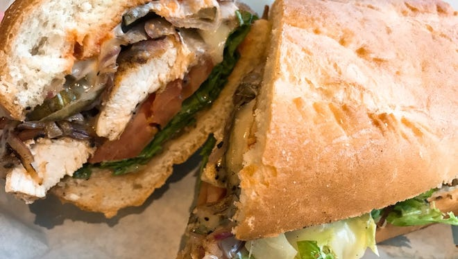 The Back Yard sandwich at Snack Attack!, 120 W. Stuart St. in Midtown Fort Collins.