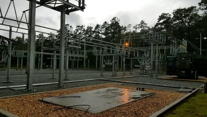 A photo of Substation 14 off Centerville Road Monday morning.