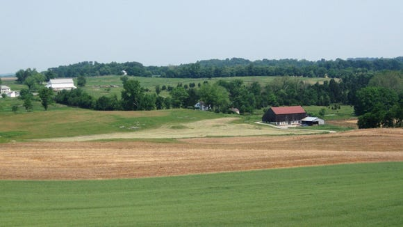 The Roulette and Mumma farms at Antietam National Battlefield Park.