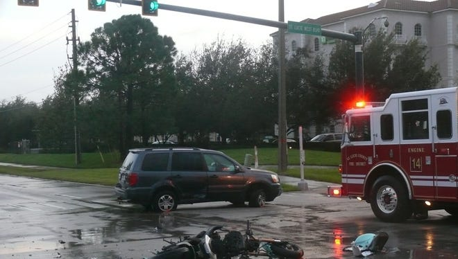 A fatal crash occurred Tuesday night in St. Lucie West.
