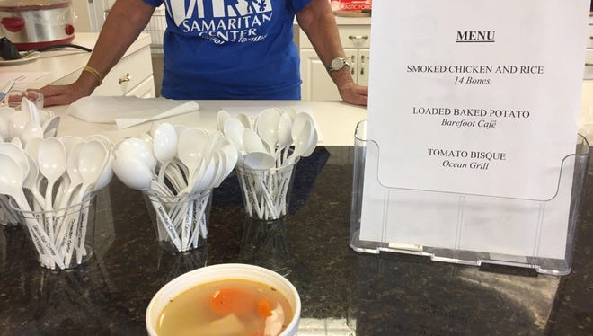 During a soup crawl run in 2016 by TCPalm columnist Laurence Reisman and WTTB radio host Bob Soos, Reisman first tried the smoked chicken and rice from 14 Bones served at United Way of Indian River County. The duo ventured to several Soup Bowl locations downtown, ending at the Community Church of Vero Beach. Reisman and Soos plan to taste soups around downtown Thursday as part of the Samaritan Center's annual fundraiser.