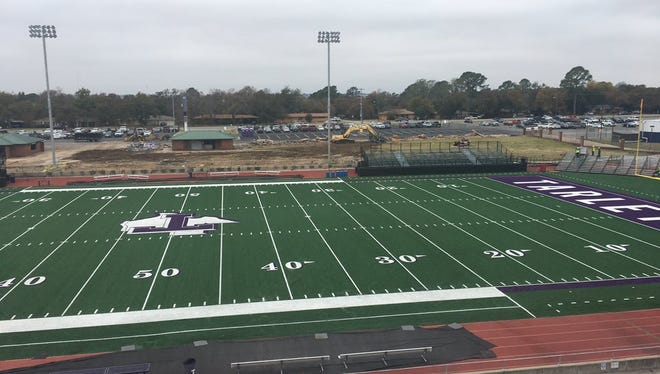 Visitor side bleachers have been removed at Tarleton University Memorial Stadium and temporary ones installed as work begins on a $26 million renovation of the facility. Image tweeted by Tarleton Athletics on Thursday, Nov. 9, 2017.