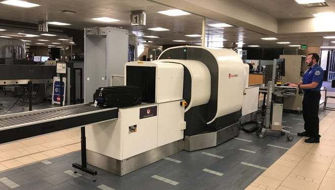 The Transportation Security Administration is testing a CT scanner for carry-on bags at Phoenix Sky Harbor International Airport's Terminal 4.