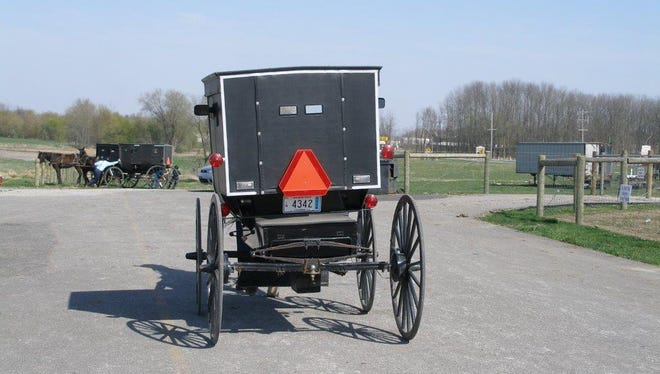 An Amish buggy in Berne, Ind.