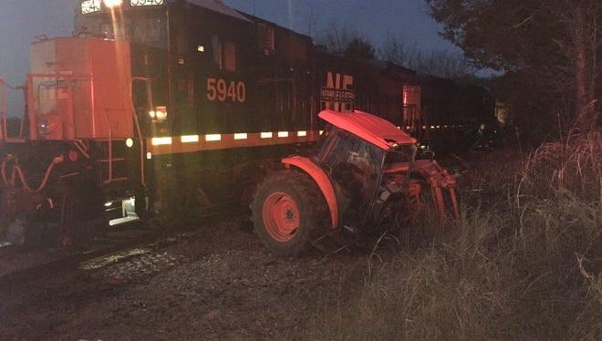 A tractor and a train collided Jan. 4 in Wilson County.