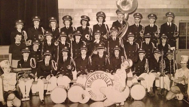 A photo of the Kirkersville High School Band of 1951-52.