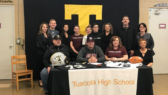 Tuscola's Cameron Parker signs to play football for