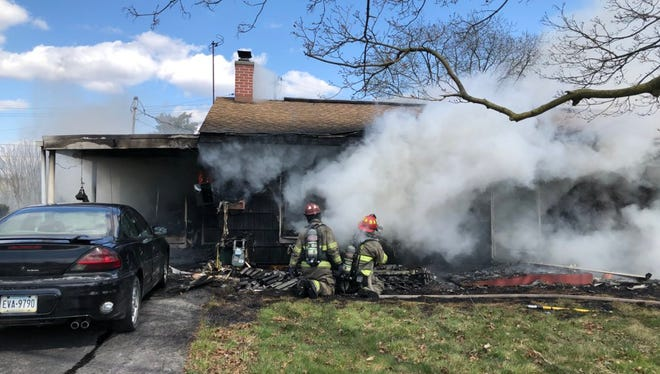 Crews from Dover and the York City Fire Department responded to a fully involved house fire in York Sunday.