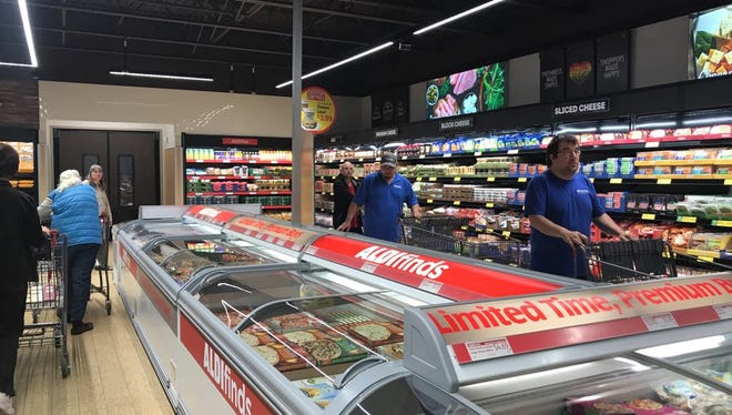 Marshfield residents will get a look at the newly remodeled Aldi grocery story this week. Seen here is the inside of the remodeled Aldi store in Rib Mountain, which opened earlier this year.