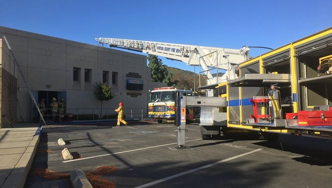 Ventura County fire crews put out a small fire Monday morning at a Newbury Park elementary school.