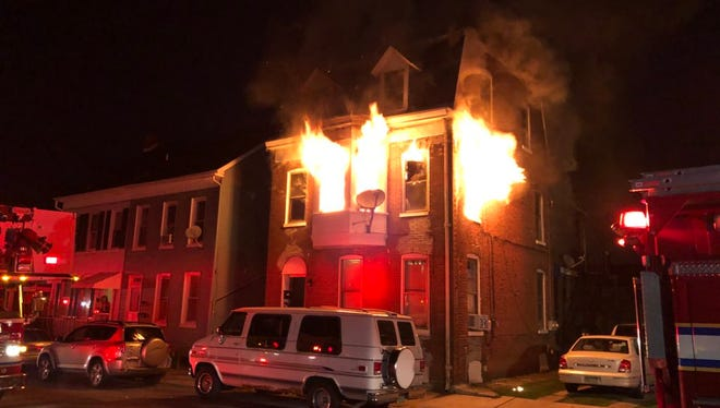 A fire broke out at about 4:30 a.m. Thursday on the 300 block of Pattison Street in York.