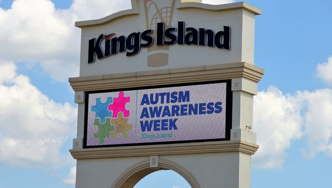 Autism Awareness Week at Kings Island.