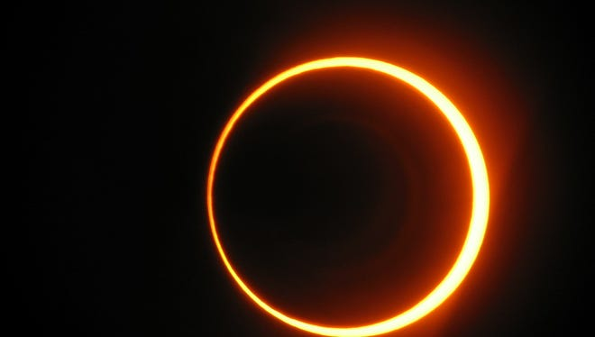 An image of a partial solar eclipse in 2005.