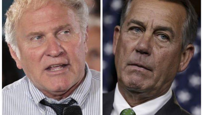 Chabot (left) and Boehner.
