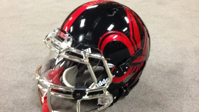 This is a picture that was tweeted out showing what could be UL's special helmet that the Ragin' Cajuns could wear tonight.