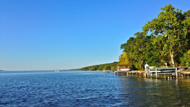 Seneca Lake, the deepest of the New York Finger Lakes, holds the largest wine trail in the state.