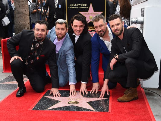 AP APTOPIX NSYNC HONORED WITH A STAR ON THE HOLLYWOOD WALK OF FAME A ENT USA CA