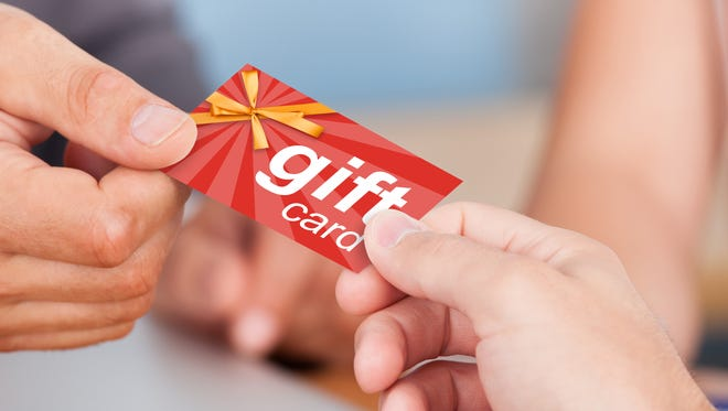 Gift cards are once again popular gifts this year.