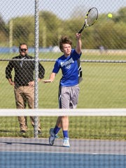 Hammonton's Jordan Mitchell hits the ball during a 4-1 victory over Timber Creek on May 16.